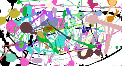 Jackson Pollock, application de dessin en ligne