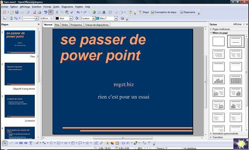 open office impress équivalent de power point