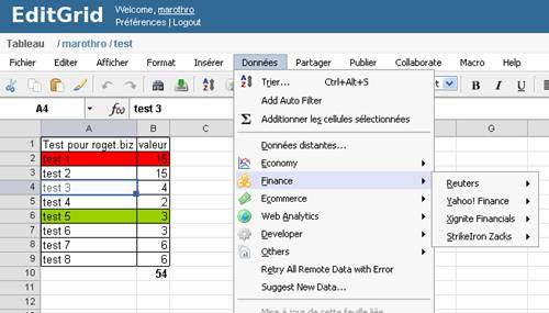 solution gratuite de tableur en ligne type excel