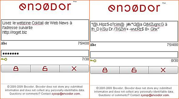 encoder : exemple de codage de message