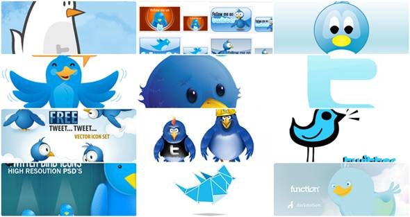 icone twitter gratuits