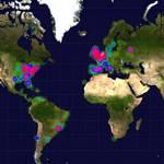 La carte de chaleur de twitter: mine d'or pour statisticiens